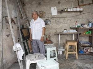 Don Valentín Cruz Cauich es de los artistas que nunca ha sentido la necesidad de ir a vivir a la capital yucateca | Foto: PERIÓDICO POR ESTO!