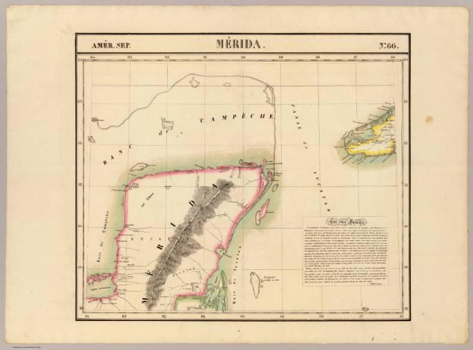 Merida, Amer, Sep, no, 66, (Dresse par Ph, Vandermaelen, lithographie par H, Ode, Quatrieme partie, — Amer, sept, Bruxelles, 1827