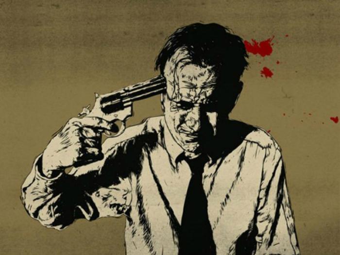 Réquiem por un suicida ocupó en México uno de los primeros lugares de ventas, en mi haber, modesta hazaña que sólo he logrado en 1971 con El gran solitario de Palacio | Ilustración: TARINGA.COM