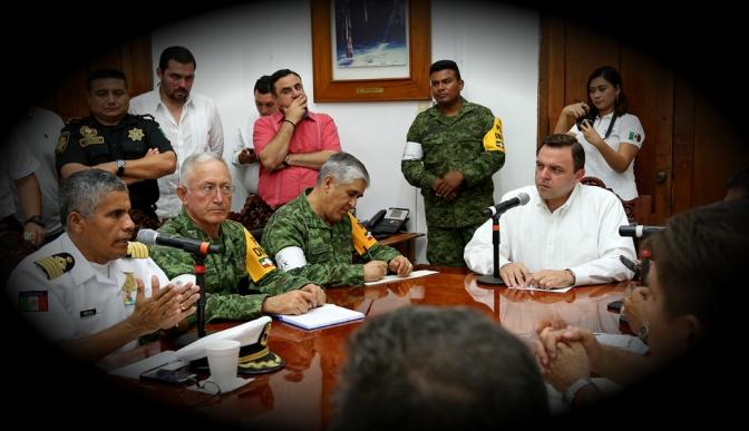 Despliega Gobierno de Yucatán brigadas y efectivos para resguardar a la población, principalmente en el cono sur
