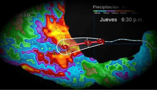 En alerta, comités de Protección Civil en Veracruz ante la llegada de tormenta Franklin