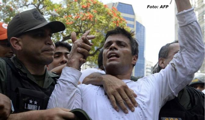 Encarcelan en Venezuela a Leopoldo López y a Ledezma