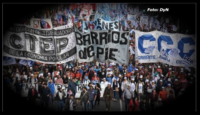 Cientos de miles marcharon por pan y trabajo en Argentina