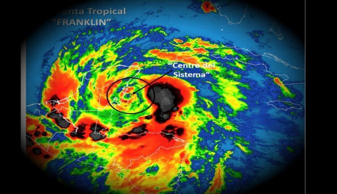 En alerta siete estado ante paso de tormenta Franklin
