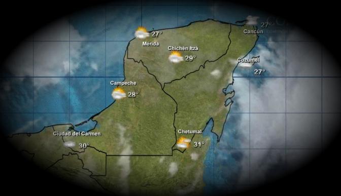 Pronostican lluvias para este sábado en la Península de Yucatán