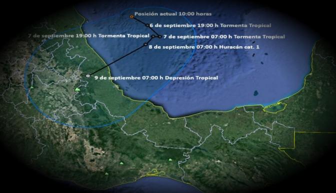Lluvias en casi todo el país por 'Katia': Protección Civil; alerta en Veracruz por su acercamiento