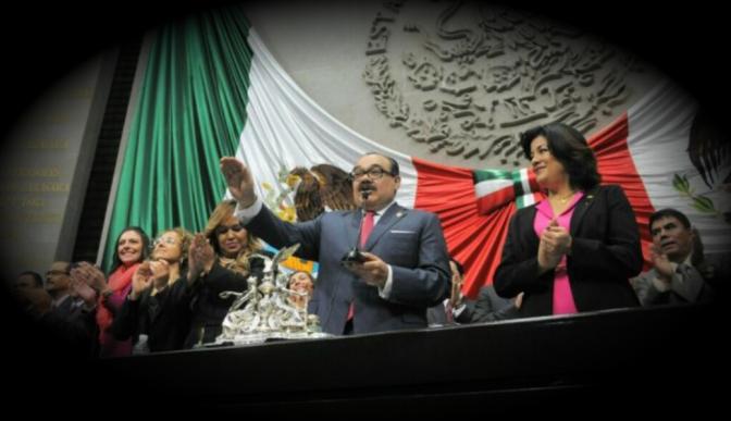 Tras berrinche y chantaje del PAN-PRD-MC, Jorge Carlos Ramírez Marín asumió la presidencia de la Cámara de Diputados