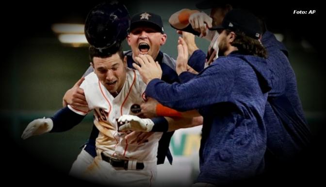 Astros de Houston se pone a un juego de convertirse en el campeón de la Serie Mundial de Beisbol