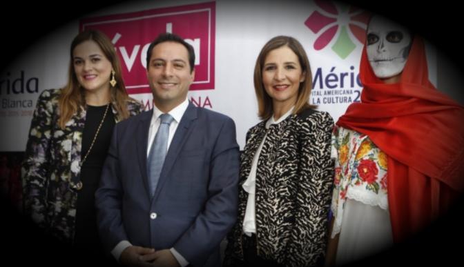 Presume Mauricio Vila en la Ciudad de México la distinción de Mérida como Capital Americana de la Cultura