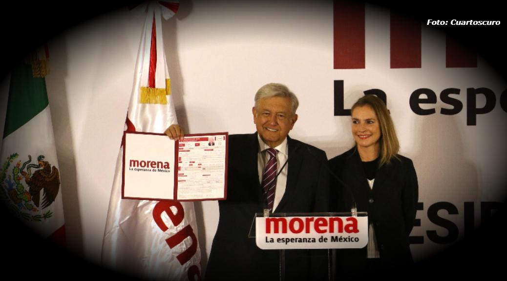 Registra AMLO su precandidatura en Morena para Presidencia