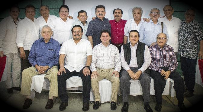 Líderes priistas refrendan su apoyo y confianza a Mauricio Sahuí Rivero