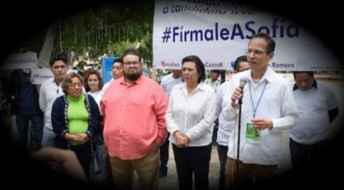 Sofía Castro pide apoyo para ser candidata a gobernadora