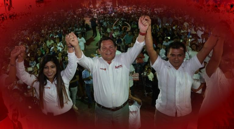"""""""Huacho"""" Díaz, al igual que AMLO, va a la alza en Yucatán"""