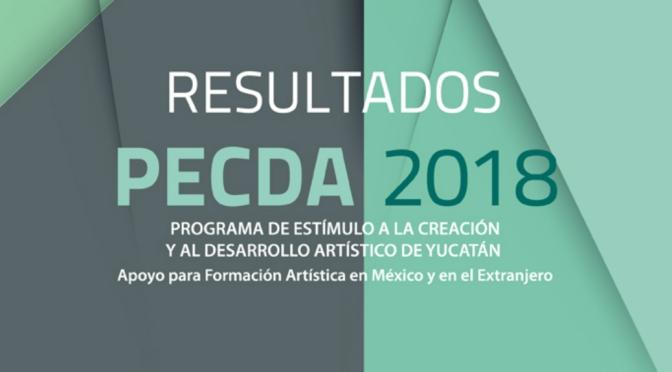 Presentamos la lista de beneficiarios del PECDA 2018
