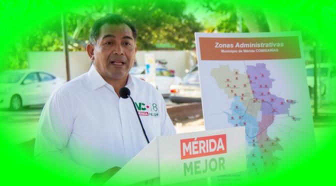 Atender puntualmente a cada región de Mérida, compromiso de Víctor Caballero Durán