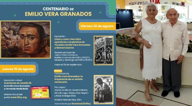 Festeja Filey a Emilio Vera Granados en su cumpleaños número cien