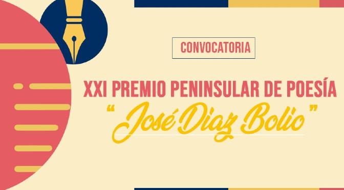 Convocatoria del XXI Premio Peninsular de Poesía «José Díaz Bolio» (Península de Yucatán, el Petén y Belice; abierta hasta el 31/8/2021)
